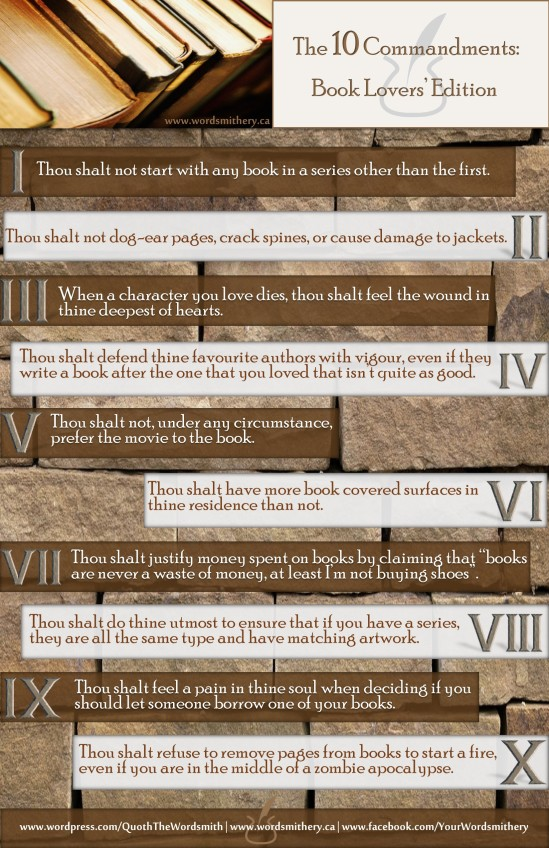 10 Commandments: Book Lovers' Edition